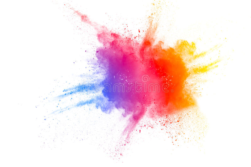 Explosión del polvo del color stock de ilustración