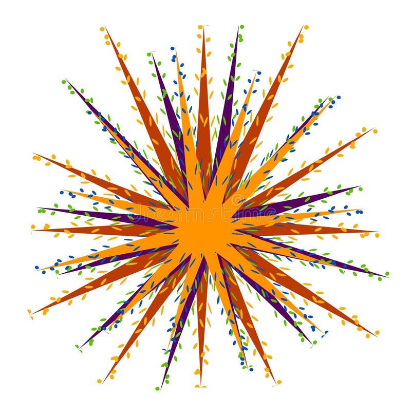 Explosión del punto de la explosión del confeti ilustración del vector