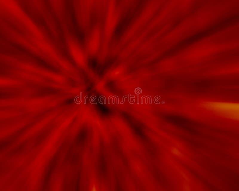 Explosión del rojo ilustración del vector