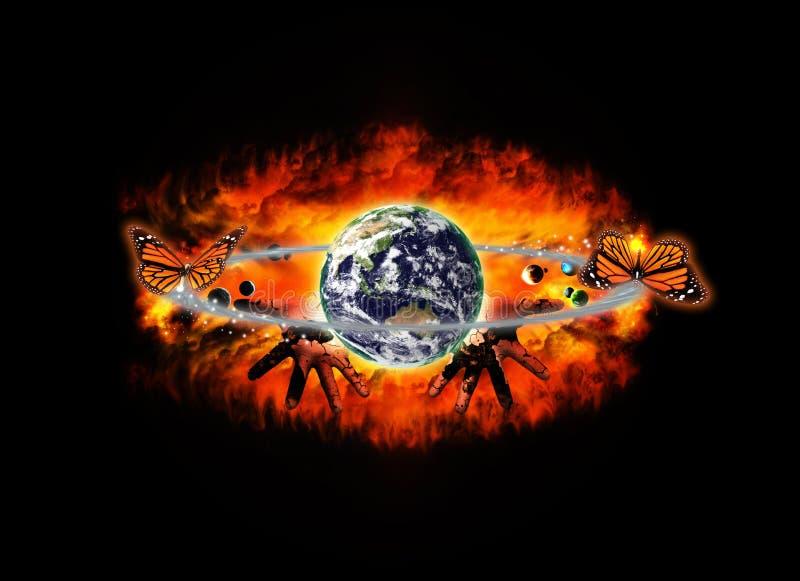 Explosión del universo ilustración del vector