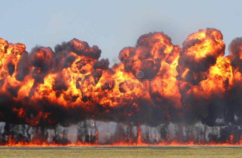Explosión gigante fotos de archivo