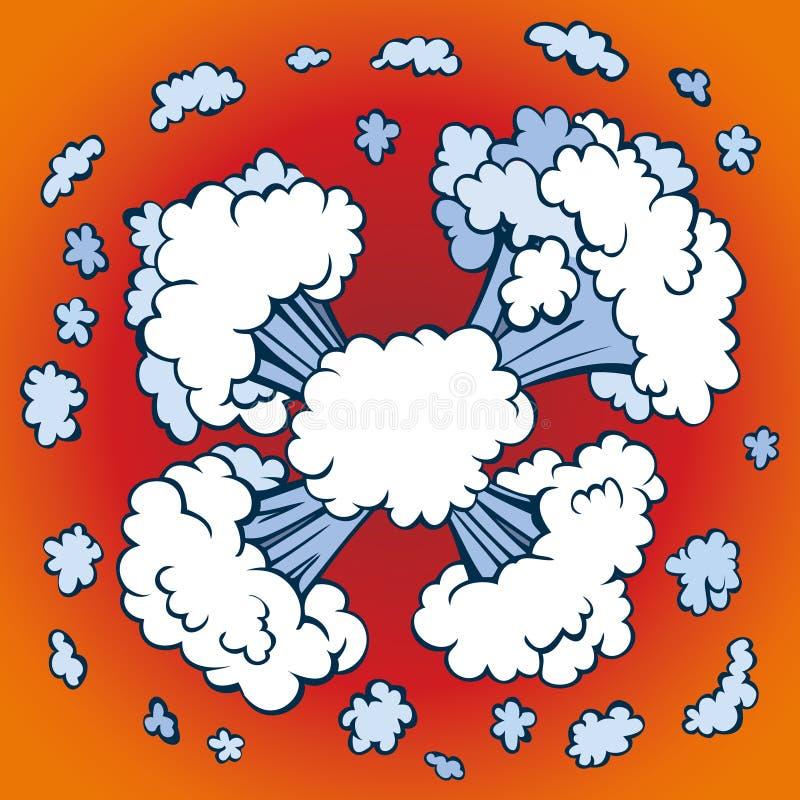 Explosión Gráfico del vector ilustración del vector