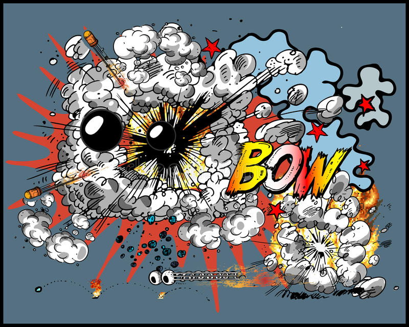 Explosión grande ilustración del vector