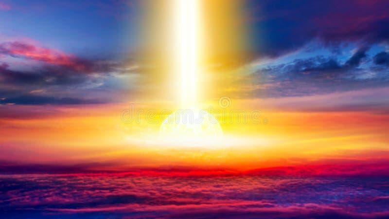 Explosión grande abstracta Luz del cielo fotografía de archivo libre de regalías