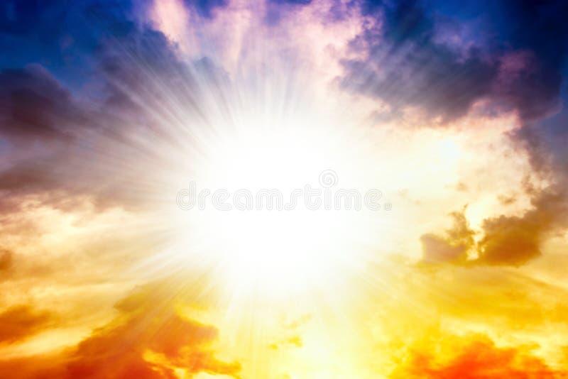 Explosión grande abstracta Luz del cielo fotografía de archivo
