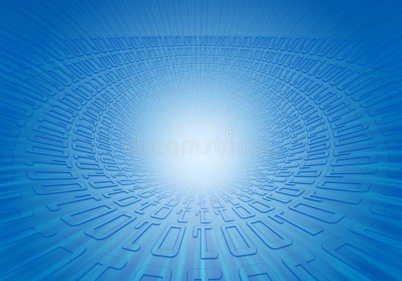 Explosión grande del código binario ilustración del vector