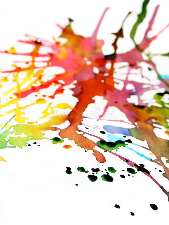 Explosión II del color foto de archivo