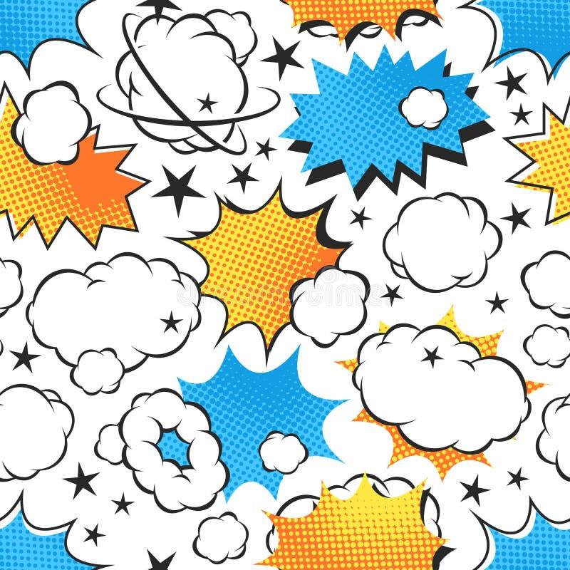 Explosión inconsútil del modelo de los iconos del auge ilustración del vector