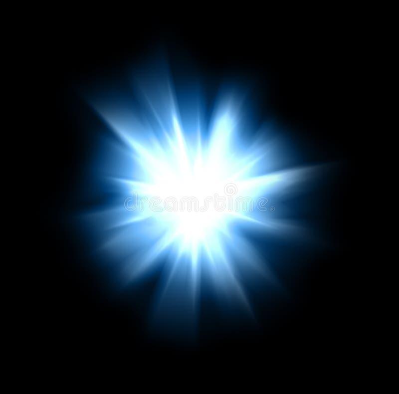 Explosión intensa de la luz foto de archivo