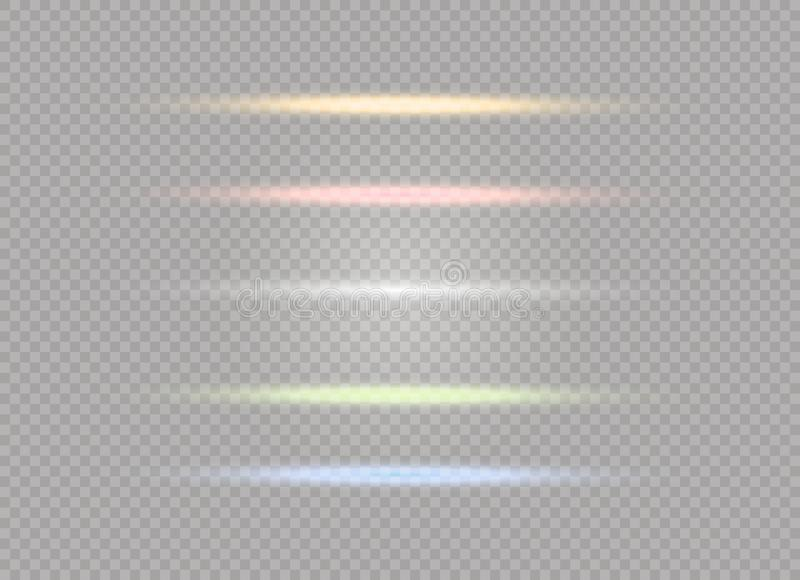 Explosión ligera blanca de la explosión que brilla intensamente en fondo transparente Decoración del efecto luminoso del ejemplo  stock de ilustración