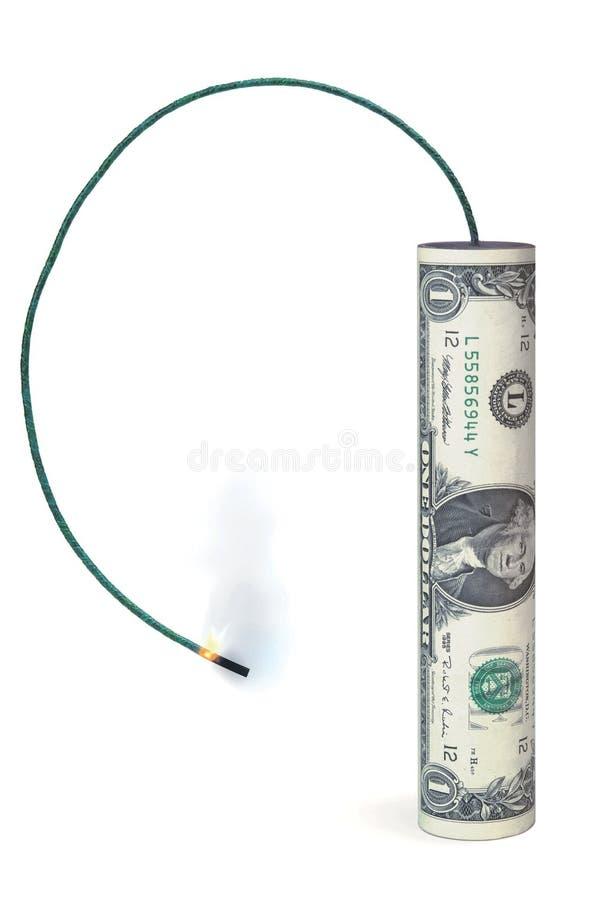 Explosión para el dólar fotografía de archivo