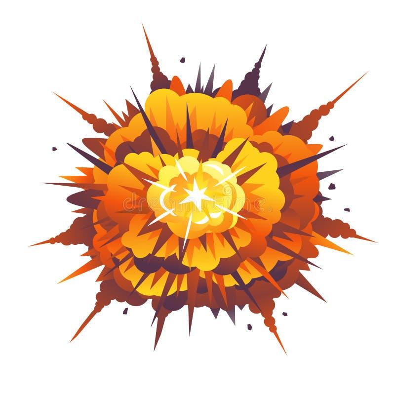 Explosión radial de la bomba libre illustration