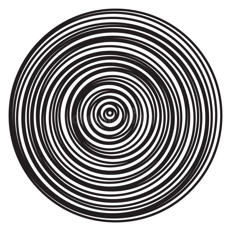 Explosión radial de los anillos del vector de círculos abstractos ilustración del vector