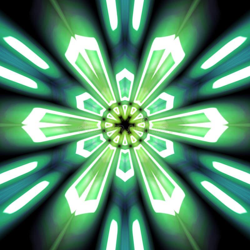 Explosión radial del verde y del trullo ilustración del vector