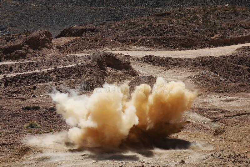 Explosie stock foto