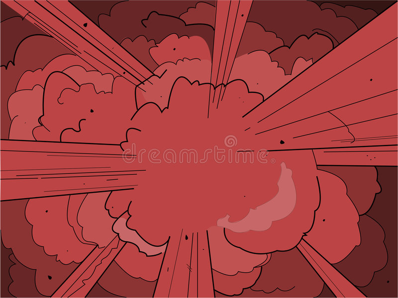 Explosie royalty-vrije illustratie