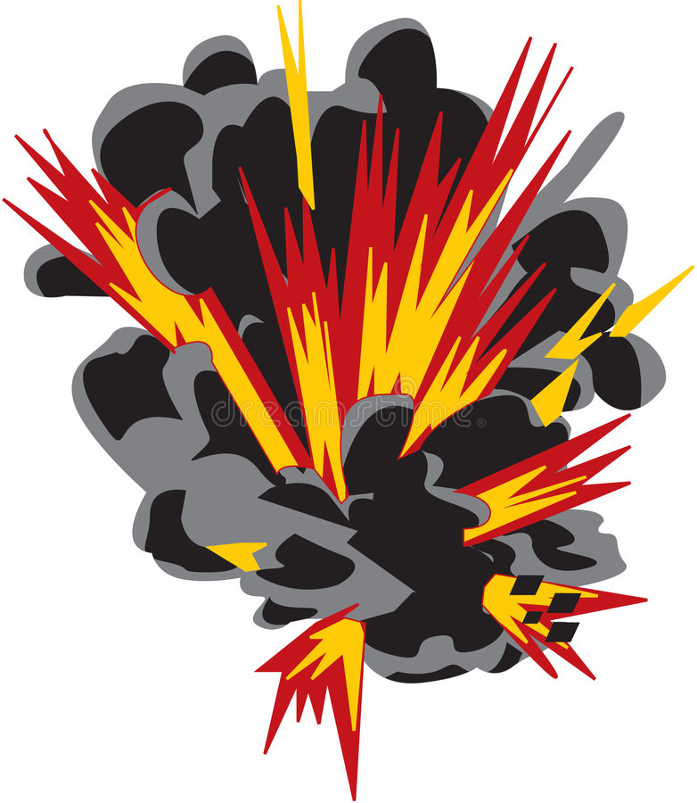 Explosie vector illustratie