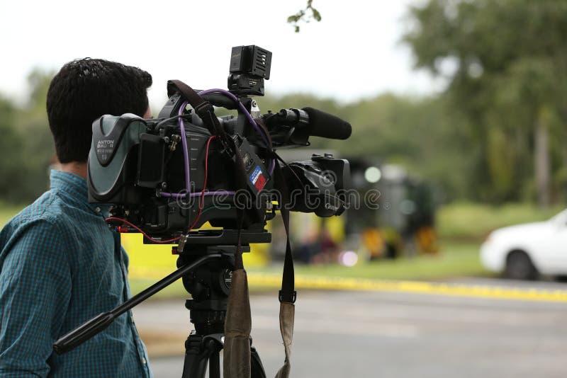 Explosie bij Inspectoraat Amerika een bedrijf in corporexpark in Tamper, FL 8 oktober, 2018 een Mens was brandwond met een mogeli stock fotografie