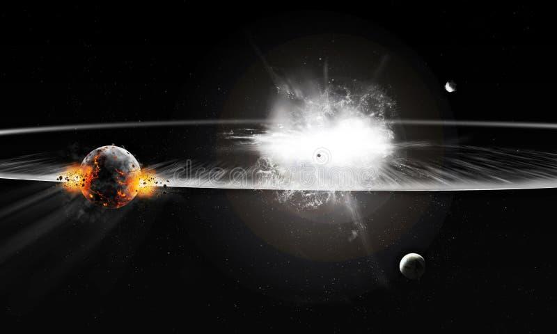 Explosie in Heelal royalty-vrije illustratie