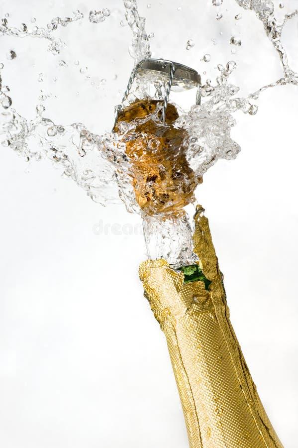 Explosie van champagne royalty-vrije stock afbeelding