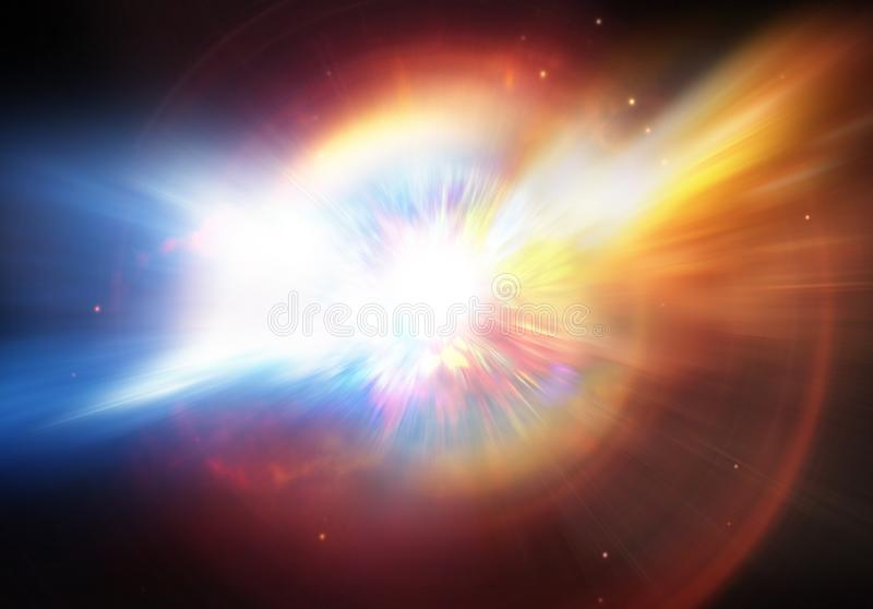 Explosie van planeet of supernovaster vector illustratie