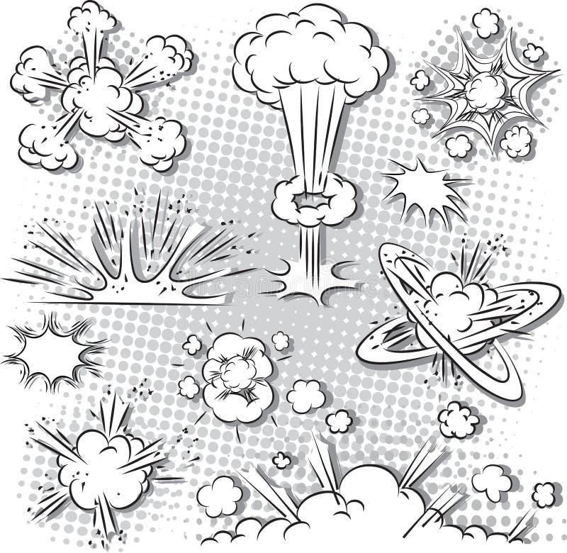 Explosiebellen royalty-vrije illustratie