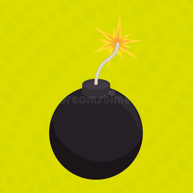 explosief beeldverhaalontwerp vector illustratie
