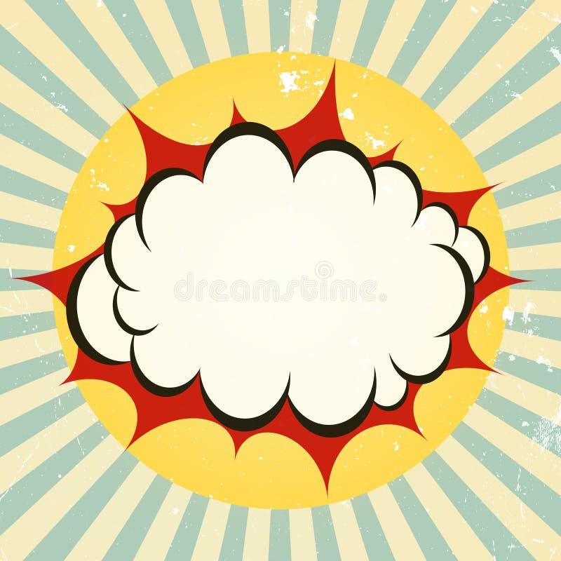 Explosief boompictogram vector illustratie