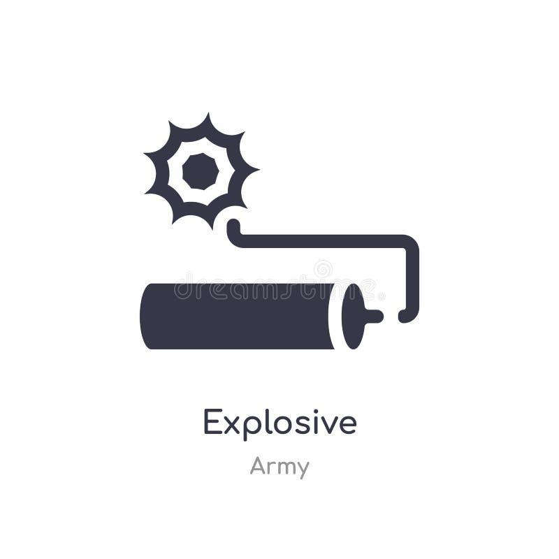 explosief pictogram geïsoleerde explosieve pictogram vectorillustratie van legerinzameling editable zing symbool kan gebruik voor vector illustratie