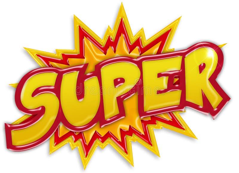 Explosief super etiket stock illustratie