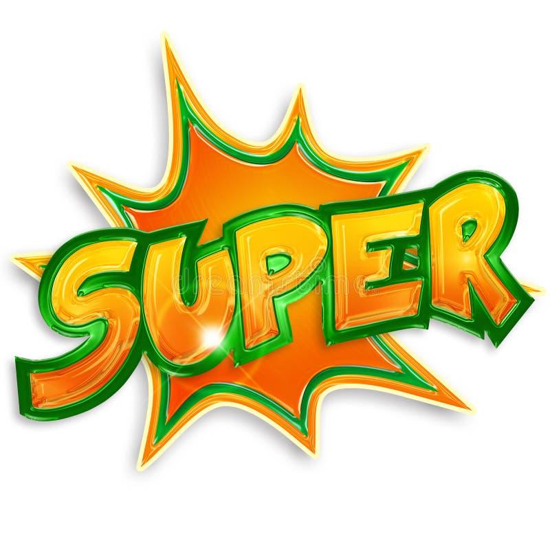 Explosief super etiket vector illustratie