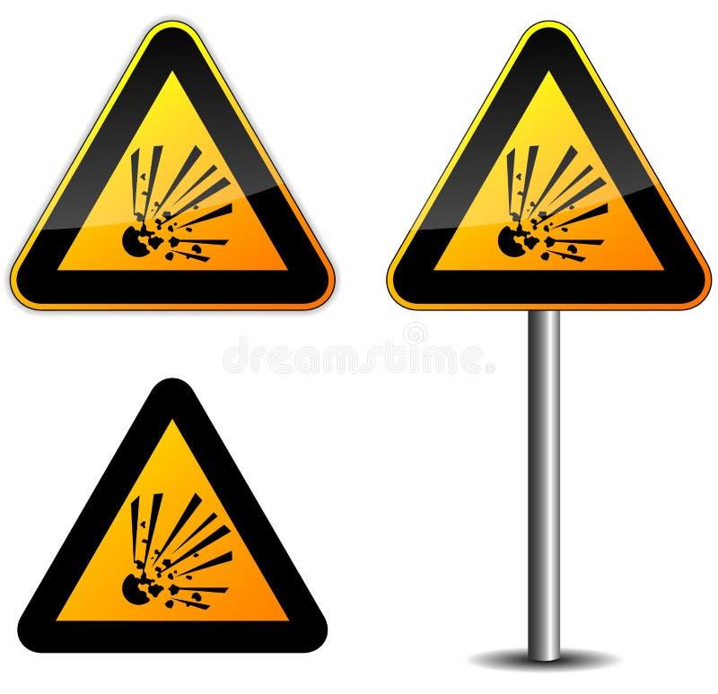Explosief teken stock illustratie