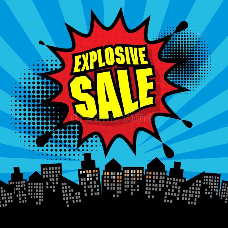 Explosief verkoopontwerp royalty-vrije illustratie