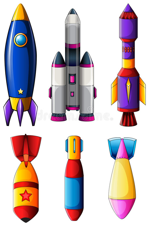 Explosieve raketten stock illustratie