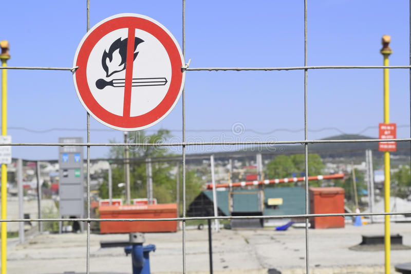 Explosif inflammable de signe images stock