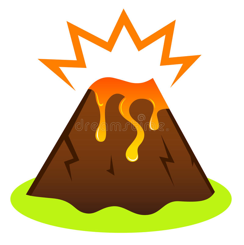 Explosing Volcano With Lava Royalty Free Stock Image