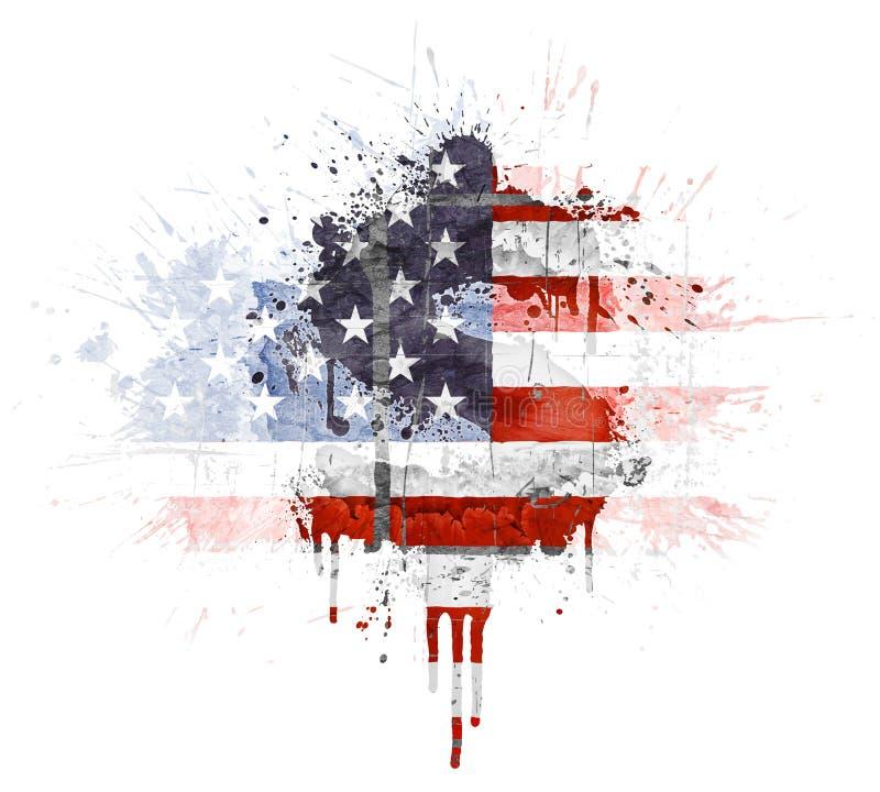 Explosion économique américaine illustration de vecteur