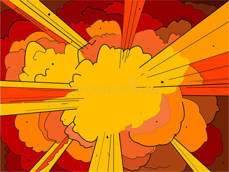 Explosion 1 illustration libre de droits