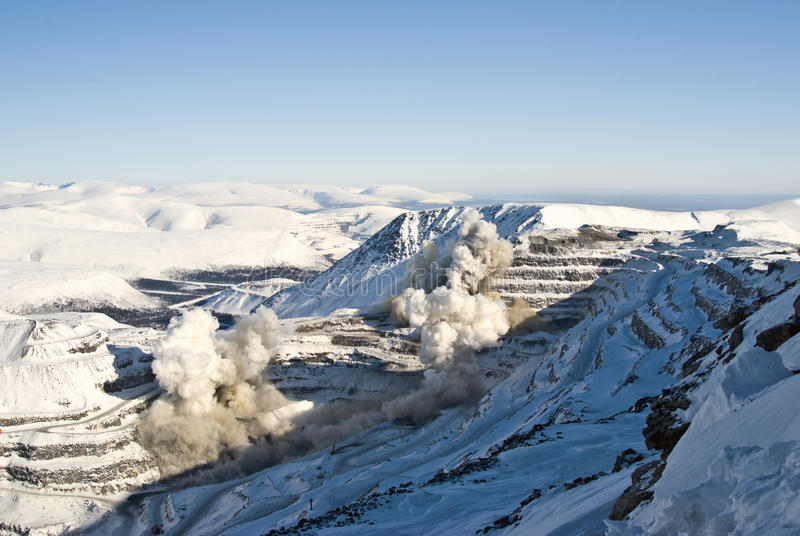 Download Explosion stock photo. Image of valley, mountains, snowcapped - 13762600