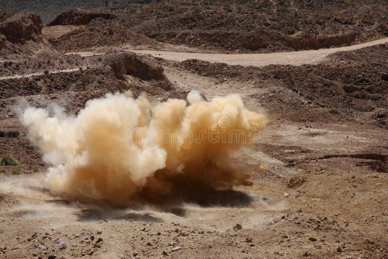explosion arkivbild