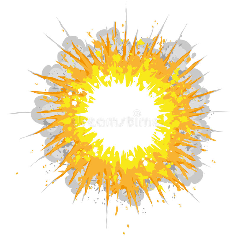 Explosion. Cartoon illustration of an explosion