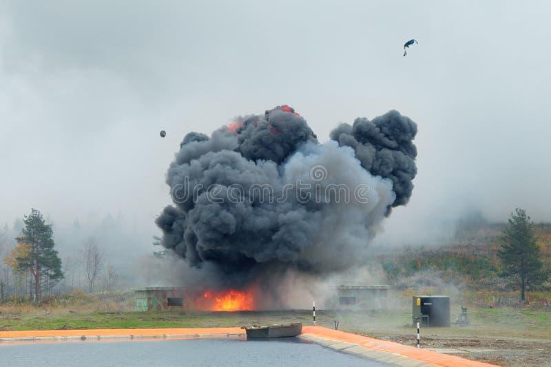 Explosion royaltyfri fotografi