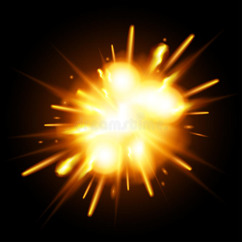 Explosion illustration stock