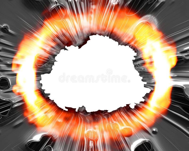 explosion διανυσματική απεικόνιση