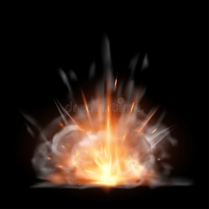 Explosion royaltyfri illustrationer