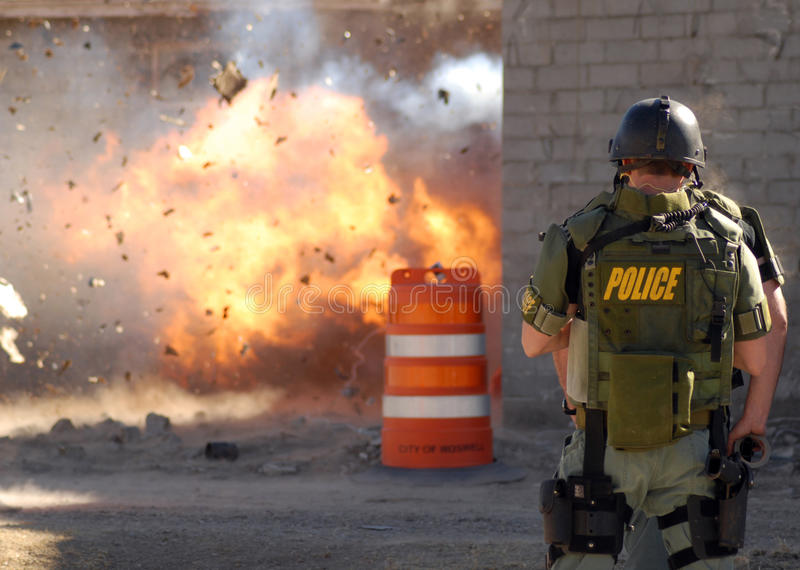 Explosion photographie stock libre de droits