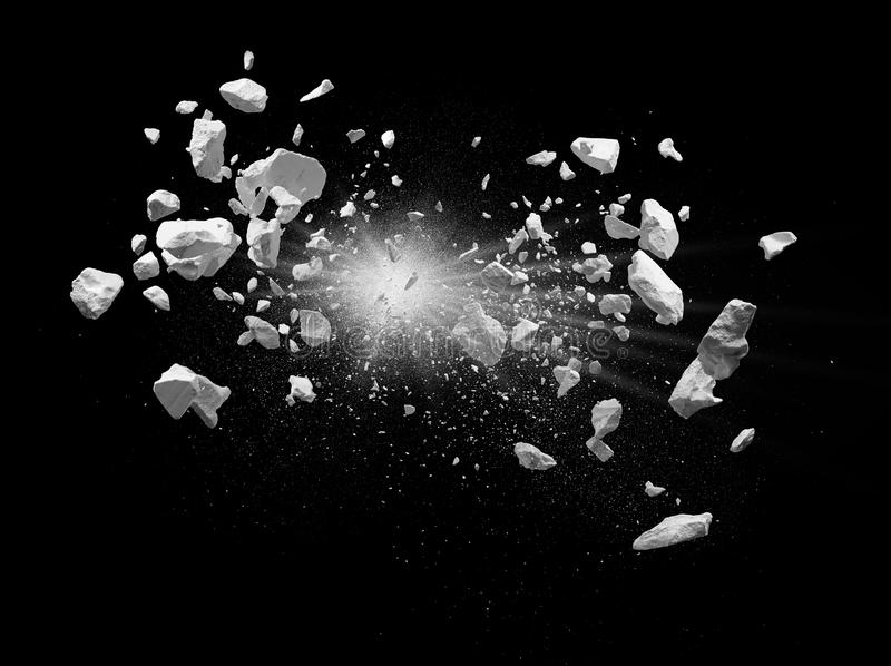Explosion arkivfoto