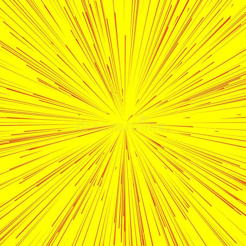 Explosion abstraite, éclat, rayons, faisceaux, éclair, scintillement, feu d'artifice illustration de vecteur