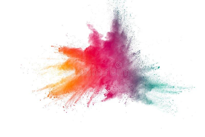 Explosion av färgpulver royaltyfri foto