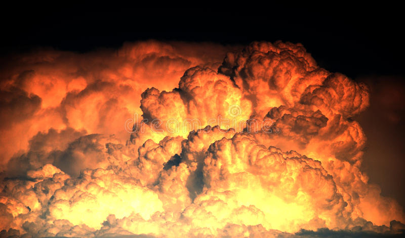Explosion and big fire texture stock photography